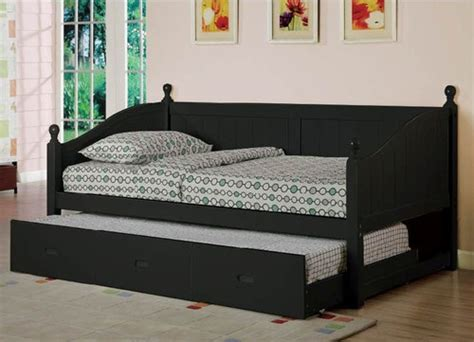 black finish cottage style daybed  twin trundle ebay