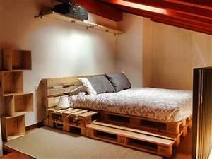 Betten Aus Paletten : die besten 25 bett aus paletten ideen auf pinterest ~ Michelbontemps.com Haus und Dekorationen