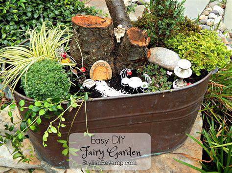 garden to make easy diy fairy garden stylish rev