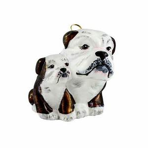 Brown and White Bulldog Mother with Puppy Polish Blown ...