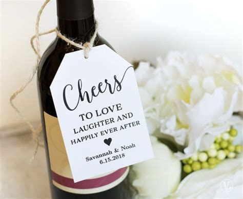 wine tags printable wedding favor tags template