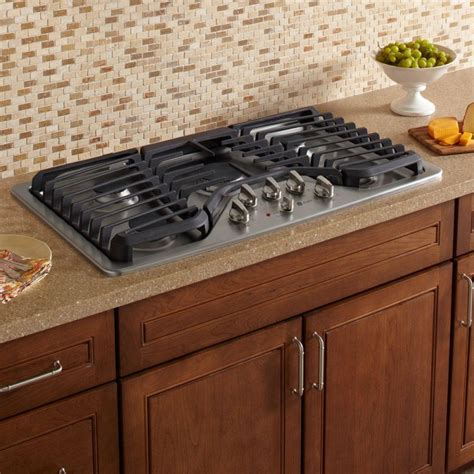 ge profile pgpsetss   gas cooktop  stainless steel   burners including power boil