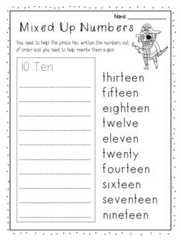numbers   worksheet writing ordering numbers