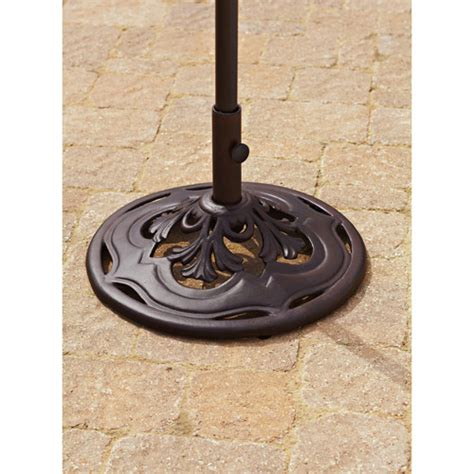 Patio Umbrella Base Walmart by Better Homes And Gardens Paxton Place Outdoor Umbrella