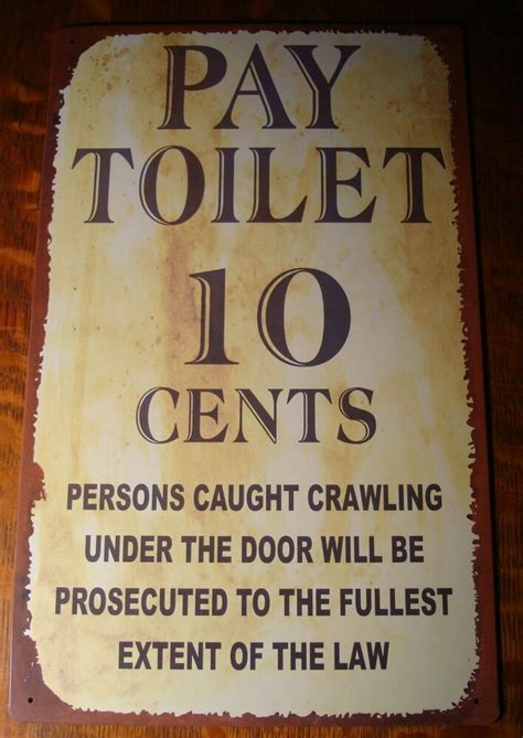 funny country western  west bathroom rustic decor sign