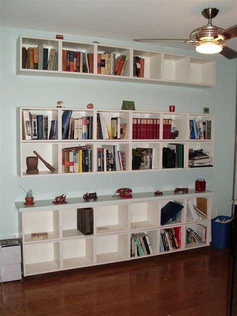 floating glass shelves ikea bookshelves  small spaces