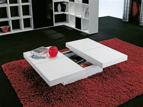wide designs  white coffee table  storage homesfeed