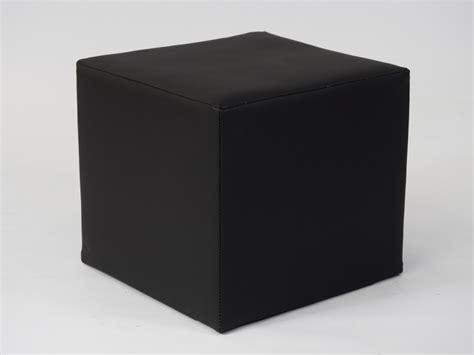 Club Ottoman Black Cube Seat Hire  Rio Lounge