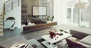 Living Room: Modern Contemporary Living Room With Modern
