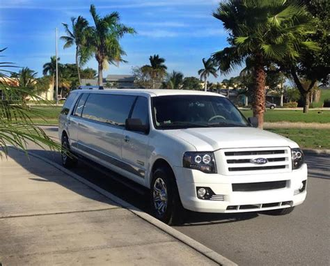 Limousine Service by White Ford Expedition Limo Fl Limousine