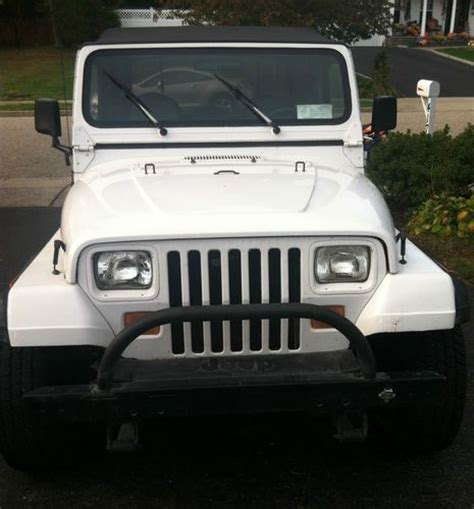 new jeep white buy used 1990 jeep wrangler yj white with hard top full