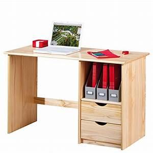 Schreibtisch Holz Natur : links 30600102 schreibtisch mit schubladen kiefer massiv holz platzsparend natur lackiert ~ Frokenaadalensverden.com Haus und Dekorationen