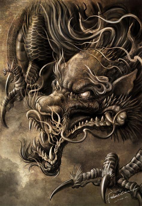 dragon artwork  hailin fu wwwfacebookcom instagram