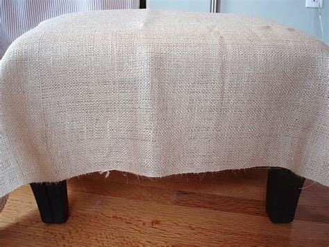 How To Make A Burlap Ottoman Cover