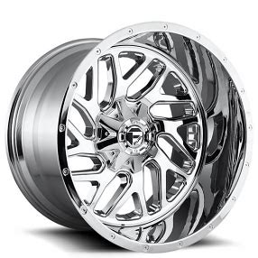 fuel wheels  triton chrome  piece  road rims