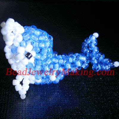 beaded blue whale jewelry animals figures flowers