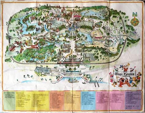 walt disney world map circa  walt disney world