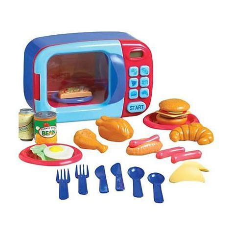 Just Like Home Microwave Oven   Red/Blue   Toys R Us