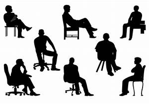 People Sitting Silhouettes - Cliparts.co