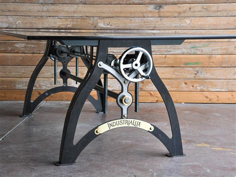industrialux sit stand crank desk vintage industrial