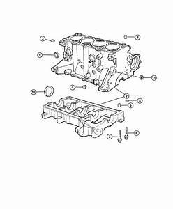2005 Dodge Neon Block  Short  Engine  Cylinder  Sohc