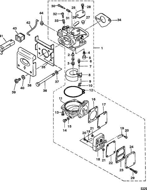 Two Cycle Carburetor Diagram by Mariner 4 Hp 2 Stroke Carburetor Parts