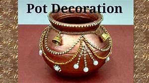 Pot Decoration Kalash decoration Navratri/ Diwali