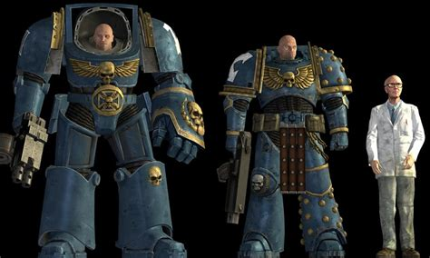 marine space warhammer terminator comparison armour power 40k weapons regular warhammer40k human compared facepunch does comments xeno universe reddit tactical