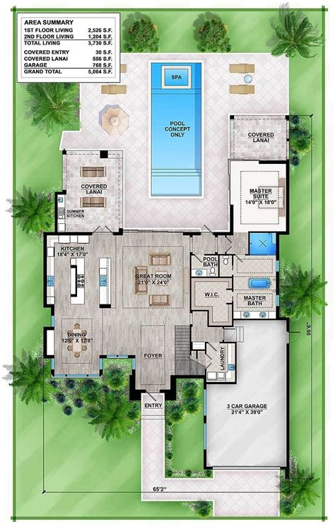 Outdoor Living Floor Plans by Plan 86039bw Master Modern House Plan With Outdoor