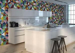 tapete fur kuche auswahlen 20 ideen fur wandgestaltung With balkon teppich mit tapeten für küche abwaschbar