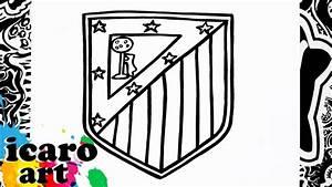 como dibujar el escudo del atletico de madrid | how to ...