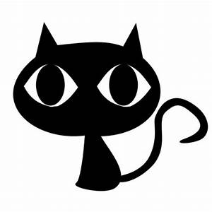 Black Cat Cartoon Clipart - Clipart Suggest