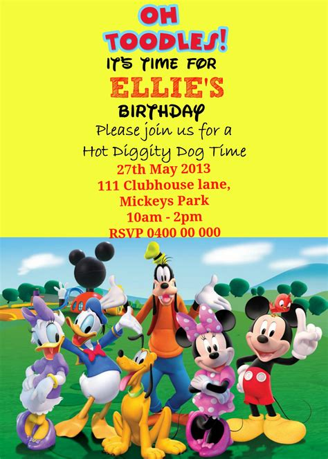 mickey mouse clubhouse invitations template how to make a mickey mouse digital invitation with free image on picmonkey