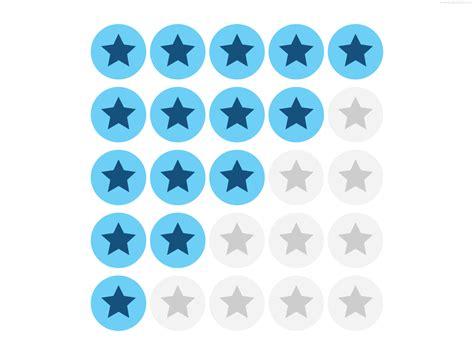 Five Stars Rating Symbols (psd)