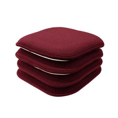 pack premium memory foam  slip chair cushions