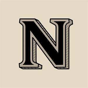 Capital, Letter, N, Vintage, Typography, Style, 1218635, Vector