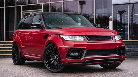 red land rover the firenze red project kahn range rover sport pace car is