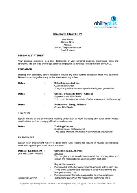 Standard Resume by Reflection Busybear777