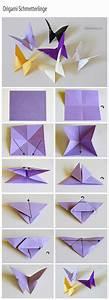 Origami Schmetterling Anleitung : origami schmetterlinge handmade kultur ~ Frokenaadalensverden.com Haus und Dekorationen