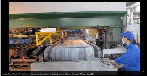 asbestos industry pressures vietnam  continue