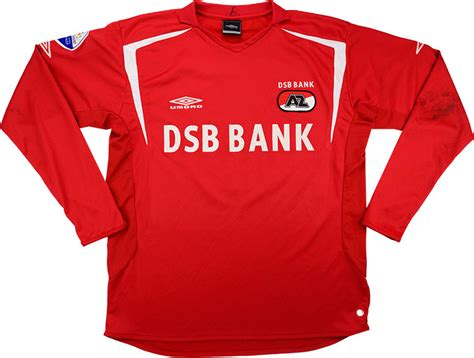 2005-06 AZ Alkmaar Match Worn Home L/S Shirt #9 (Huysegems ...