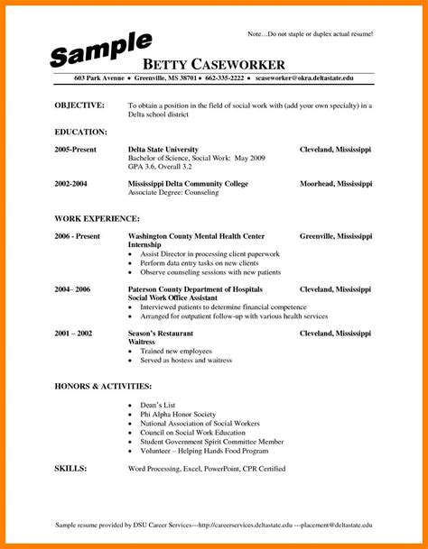 ready made resume one resume template sle of cna