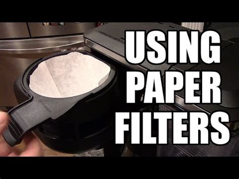 This machine has an intelligent clean cycle indicator that will let you know when it's time for maintenance. Using Paper Filters - Ninja Coffee Bar - YouTube