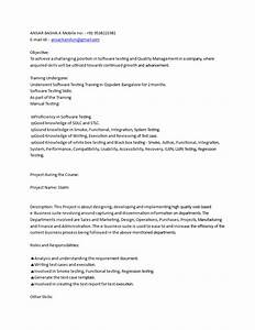 Software Testing Resume For Freshers