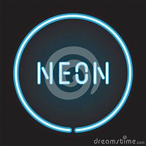 Neon Circle With Neon Sign Stock Vector Image
