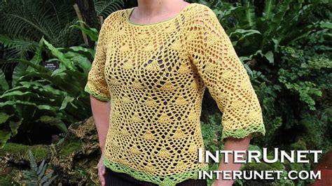 how to crochet a sweater how to crochet a raglan sleeve sweater pineapple