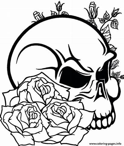 Coloring Skull Teens Pages Sugar Printable