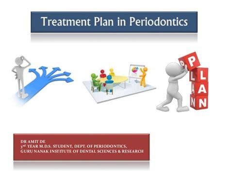Treatment Plan In Periodontics