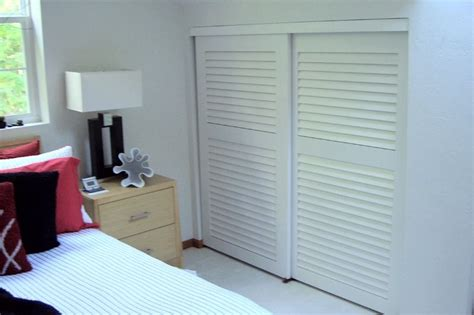 Wood Closet Doors For Bedrooms by Plantation Louvered Sliding Closet Doors Upstairs Closets