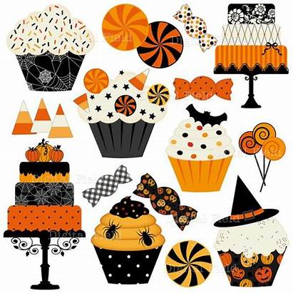 Halloween Cupcakes Clip Candies Cakes Clipart Printable